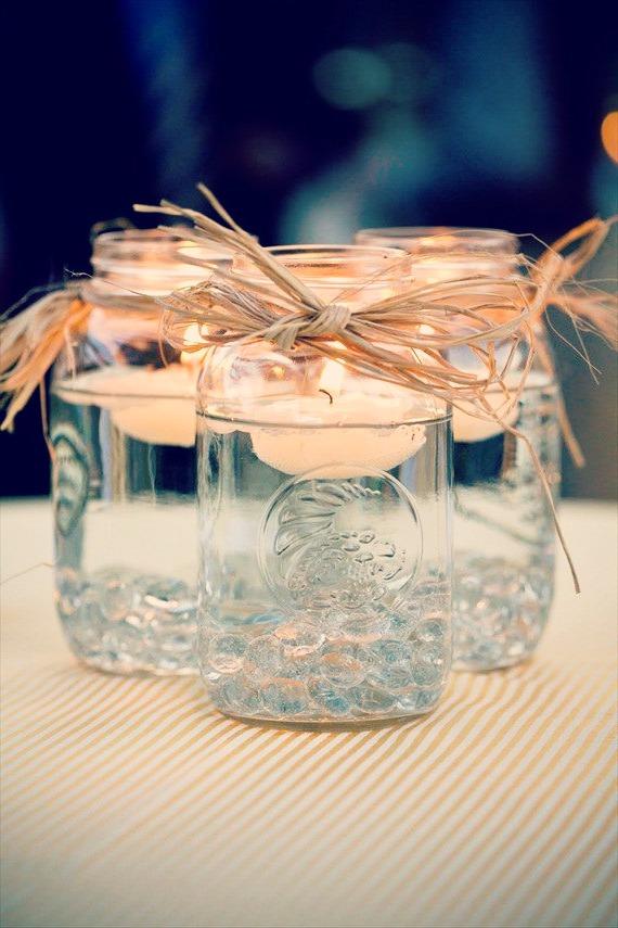 pot-confiture-décoratifs-bougies